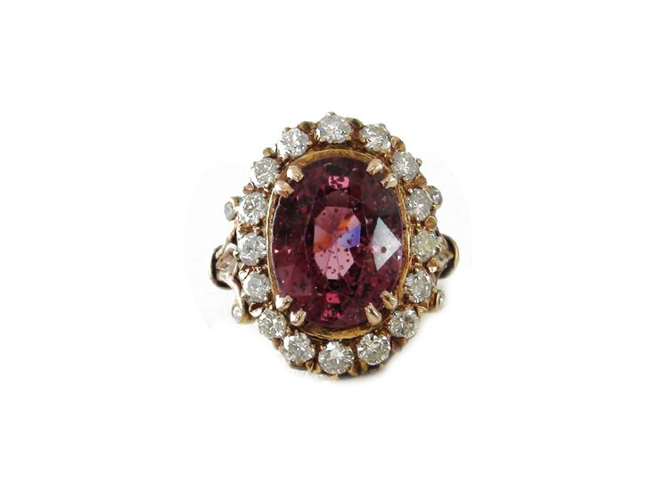 Spinel and diamond ring in gold, from Karni Jewellers.