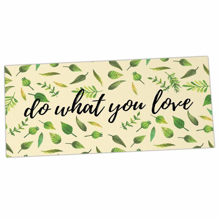 """KESS Original """"Do What You Love"""" Green Beige Desk Mat"""