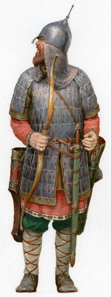 Новгородский ополченец времен  ледового  побоища 1242 г