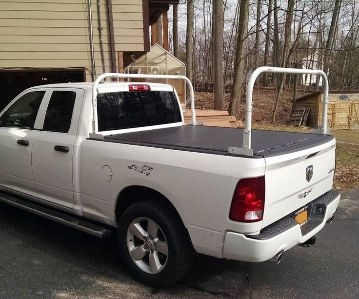 The problem with kayak/ladder racks that are commercially available, is that they don't leave room for the tonneau cover. This kayak rack works using the existing stake pockets and as long as the tonneau cover doesn't cover them up you can freely open and close the tonneau cover AND carry your stuff in the rack.