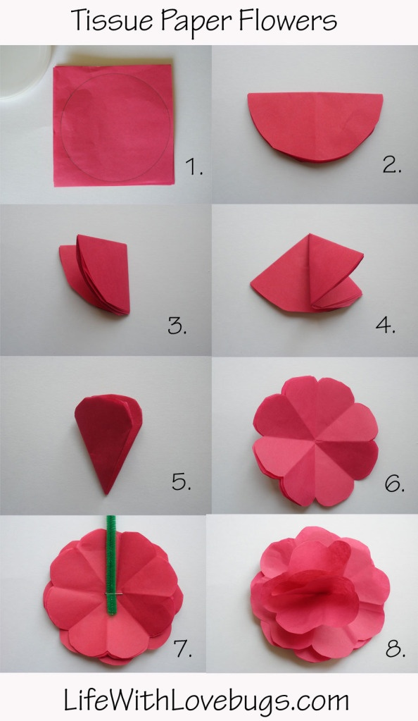 how to make pom poms out of tissue paper video