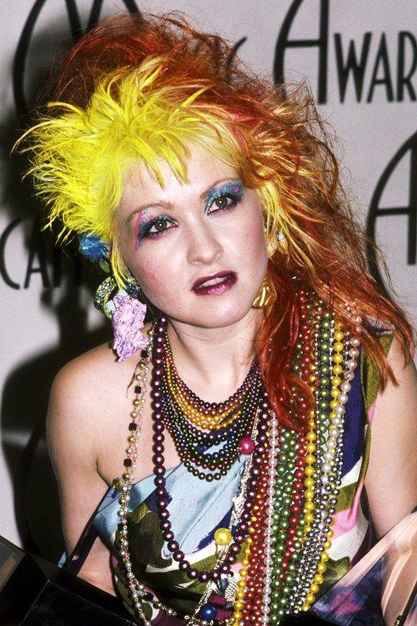 Cyndi Lauper 80s hair and makeup | Vintage Retro | Pinterest
