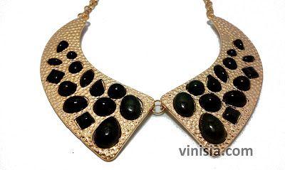 Belanja Aksesoris Wanita Online: [KG 016] Kalung collar Hitam