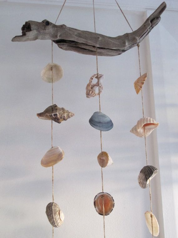 Shell mobile Shell wind chime shell decoration by Whisperingshells, $42.00