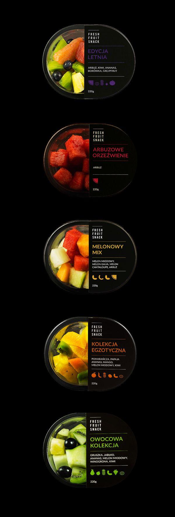 FRESH FRUIT SNACK packaging, logo & web on Behance
