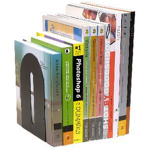 Rounded Bookends Pair Black | Officeworks