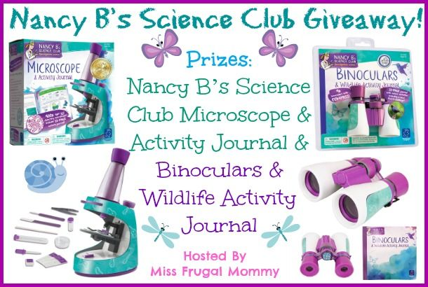 Nancy B's Science Club Giveaway - Binoculaurs, Microscope and Journal Wow Enter now! via @CentralBargains