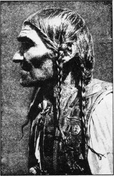 Old Slovak man with traditional braids.