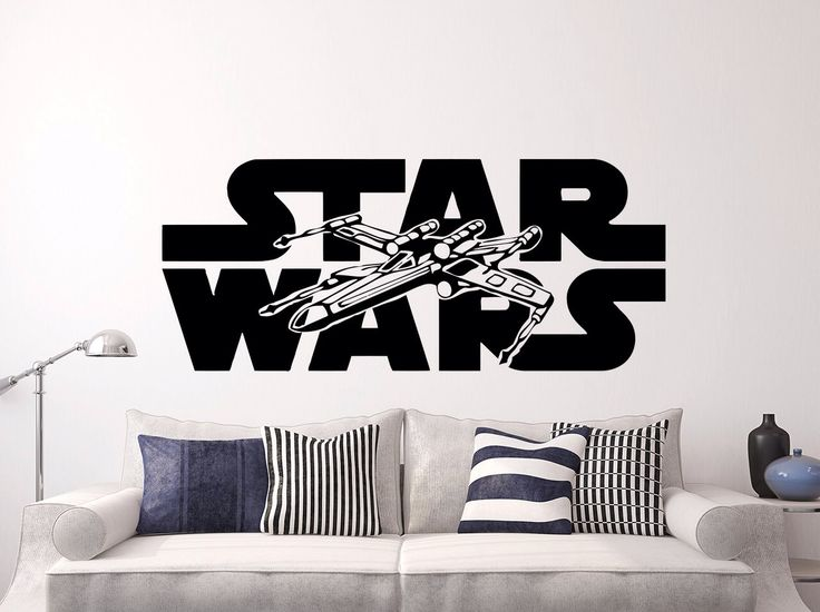 Star Wars Wall Decals Xwing Vinyl Sticker Decal Logo X Wing Fighter Wall  Decal Children Kids Nursery Bedroom Office Decor Window Dorm X209