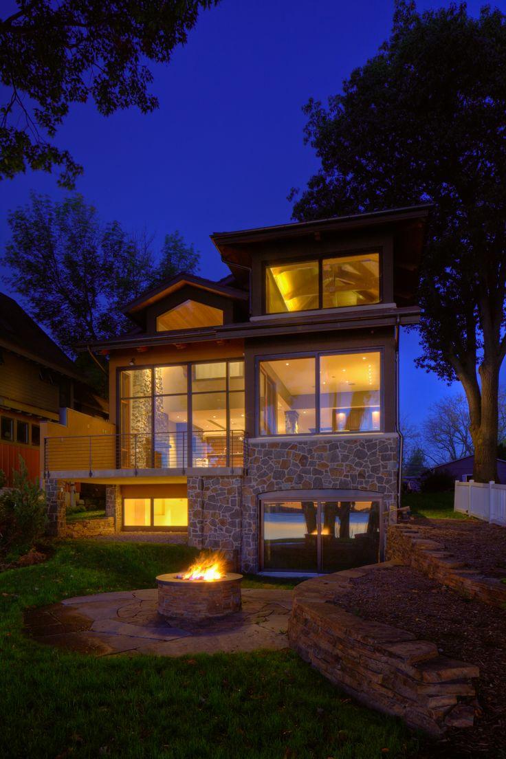 56 best mod prairie images on pinterest prairie style homes modern style lake home design by udvari solner design company