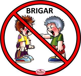 Regras para a educação das crianças.Proibido brigar.