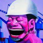 Юэ Minjun работник хип-хоп улыбающееся лицо холст в современном стиле маслом на холсте гостиная аннотация стены искусства маслом 44