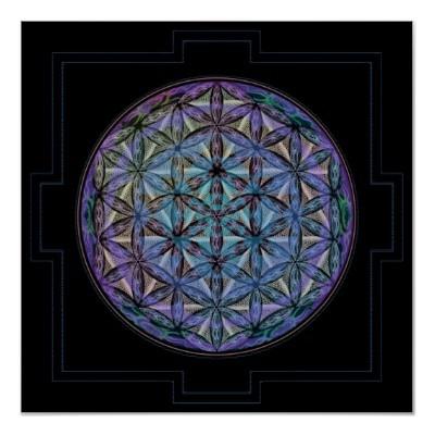 Geoshroom - Print $29.05    A mandala like flower of life pattern made up of mushrooms - is one of my most popular works