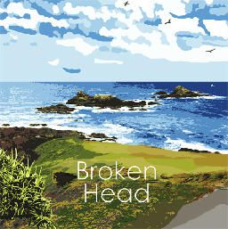 Broken Head is an oasis of Pandanus Palms, swirling seaguls, surging sea and natural beauty. A green turfed hill that falls away toward the Three Sister rocky outcrop is perfect for rolling down.