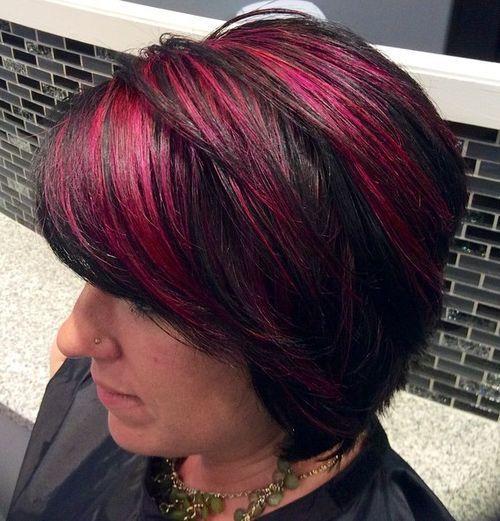 20 Pretty Ideas of Peek a Boo Highlights for Any Hair - Bob Hairstyles For Black Hair