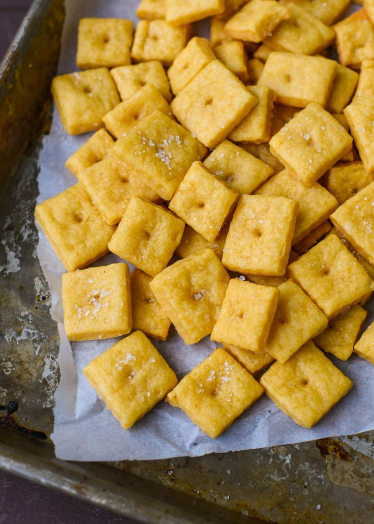 Homemade Gluten Free Cheddar CheezIts – The early bird gets the worm. But the second mouse gets the cheese.  Dan330