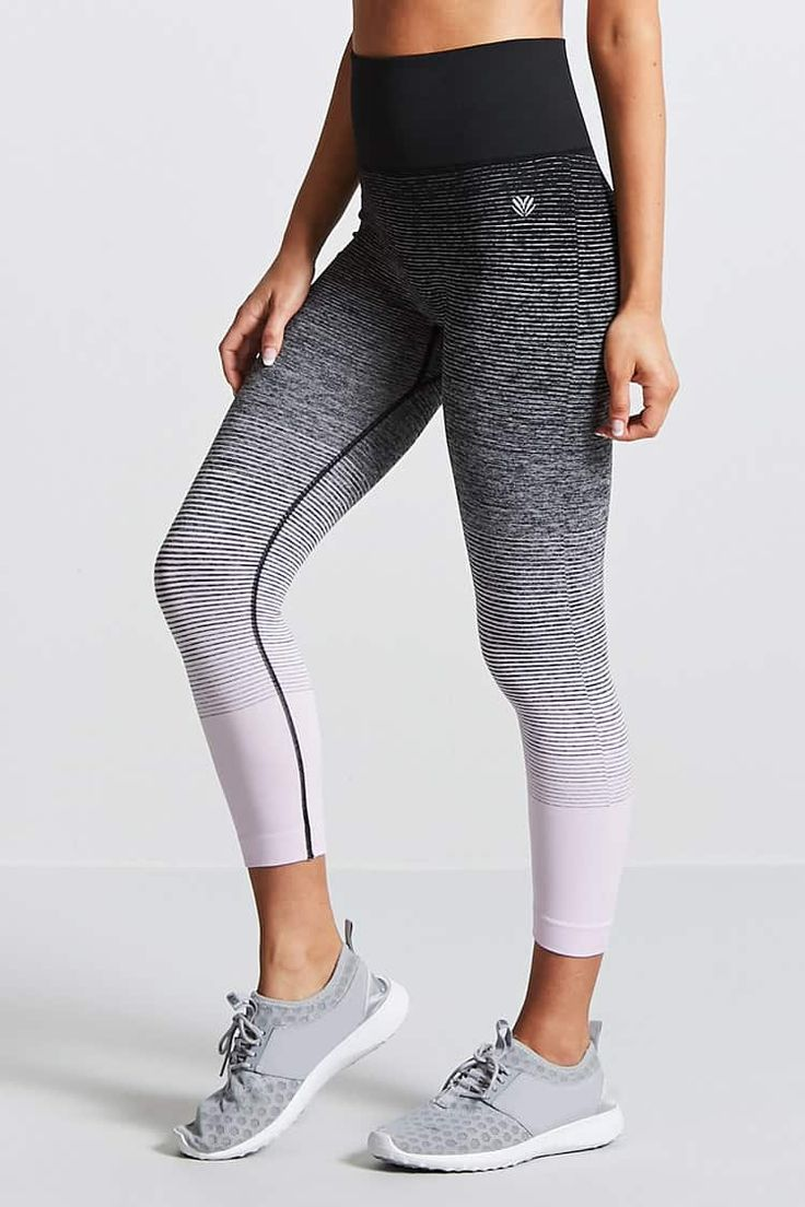 Product Name:Active Striped Capri Leggings, Category:CLEARANCE_ZERO, Price:14.9