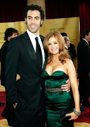 Sacha Baron Cohen and Isla Fisher at the Academy Awards (2007) http://www.snakkle.com/galleries/before-they-were-famous-stars-hot-gallery-snakkle-unmasks-the-many-personalities-of-the-dictators-sacha-baron-cohen-comedian-actor-in-photos-then-and-now/sacha-baron-cohen-isla-fisher-red-carpet-2007-photo-gc/#