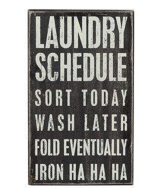 'Laundry Schedule' Wall Sign