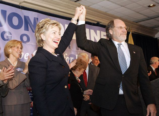 Hillary with Jon Corzine (Wall Street tycoon being sued by the federal government for fraud, still raising money for Hillary)