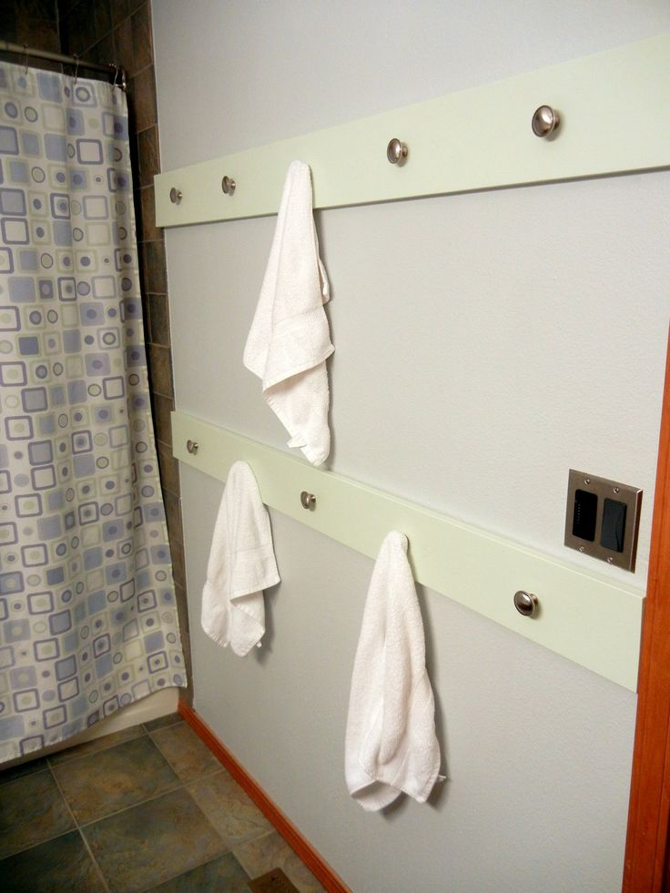 A New And Improved Way To Hang Our Bathroom Towels Mirror Ideas Pinterest Bathroom Towels