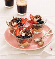 Chocolate berry trifles