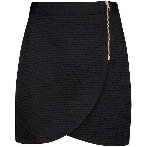 Lend a chic accent to your weekend wardrobe with this style-staple wrap front skirt.  Crafted from a stretch fabric to a flattering fit, this skirt sits at a m…
