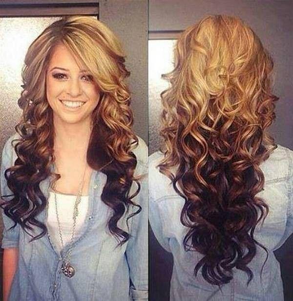 Two Tone Hair Color Ideas for Long Hair