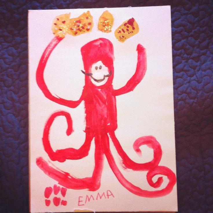 Emmas painting of Pulpo