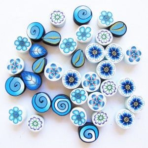Filani Millefiori - Teal/Blue Mix 20g