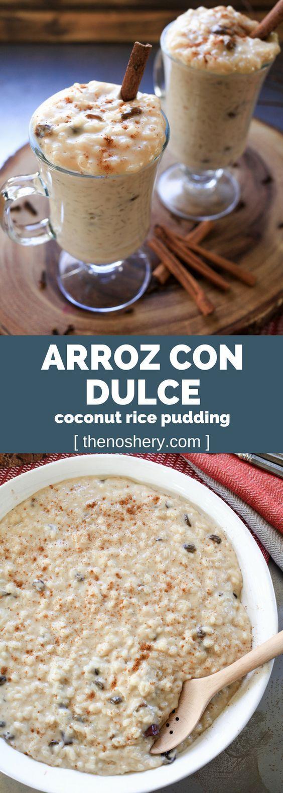 Arroz Con Dulce (Coconut Rice Pudding) | The Noshery