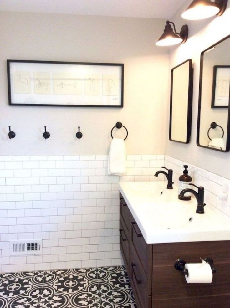 49 Modern Farmhouse Bathroom Remodel Ideas Decoratrend Com Design De Salle De Bain Conceptions De Carrelage Salle De Bains Idee Salle De Bain