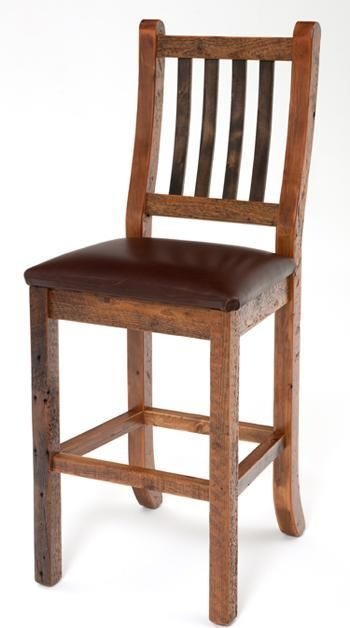 Awesome Refined Rustic Barnwood And Leather Barstool; The Refuge Lifestyle;  Exquisite Handcrafted Rustic Furniture And