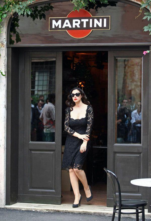 Dolce e Gabbana Bar Martini in Milan, Italy with Monica Bellucci #myhomeinMilan