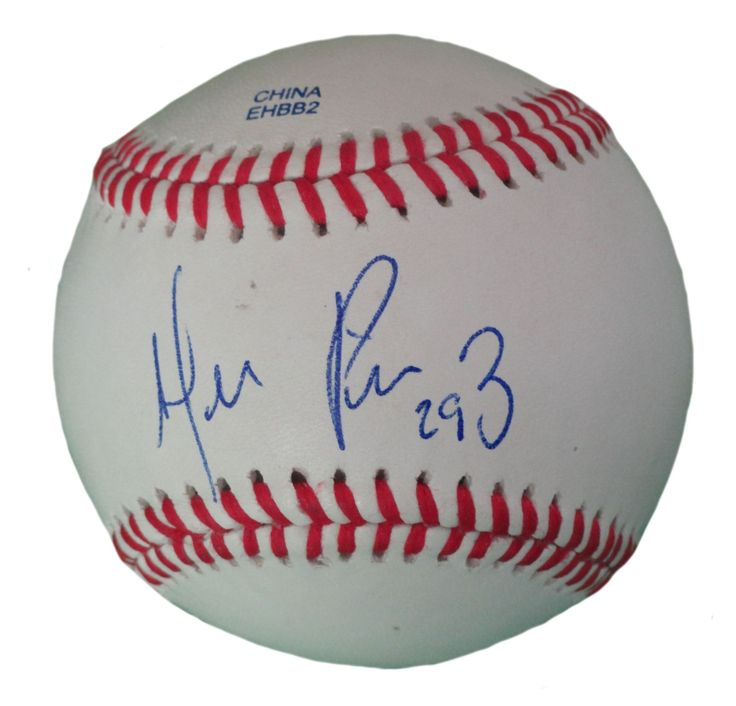 Hernan Perez Autographed Rawlings ROLB1 Leather Baseball, Proof Photo