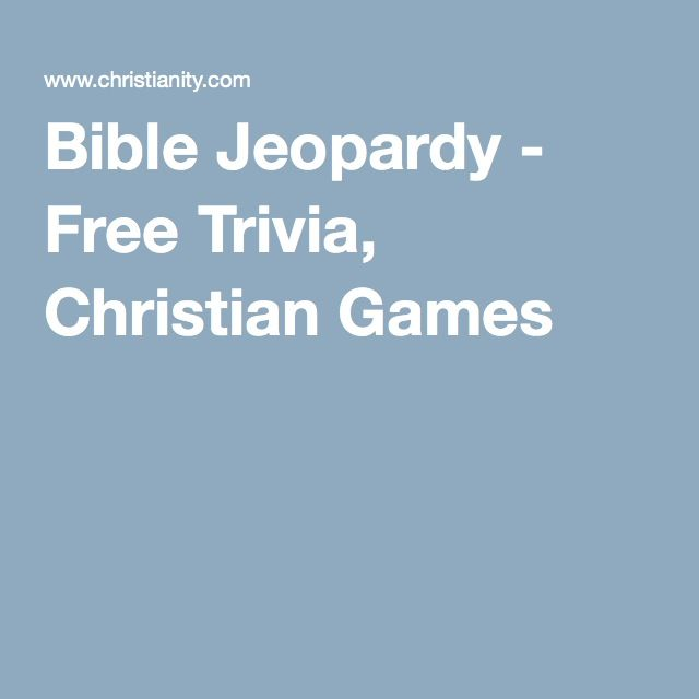 Bible Jeopardy - Free Trivia, Christian Games