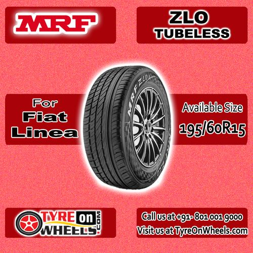 Buy Fiat Linea Tyres Online of MRF ZLO Tubeless Tyres for Size 195/60R 15 and get fitted with Mobile Tyre Fitting Vans at your doorstep at Guaranteed Low Prices buy now at http://www.tyreonwheels.com/tyres/MRF/ZLO-TUBELESS/825