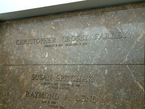Chris Farley~RESURRECTION CEMETERY CHAPEL MAUSOLEUM  MADISON, WISCONSIN