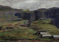 Fjeldlandskab by Samuel Joensen Mikines