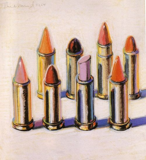 "sparklesandpretending:    juicycouture ""8 Lipsticks"" by Wayne Thiebaud, 1964."