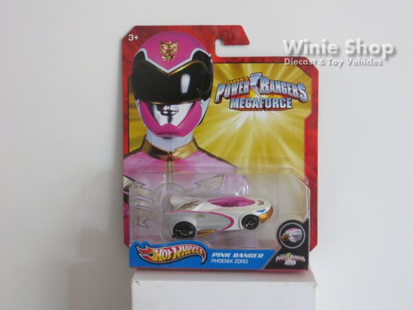 PINK RANGER - PHOENIX ZORD - 2013 HOT WHEELS SABAN'S POWER RANGERS MEGAFORCE SERIES
