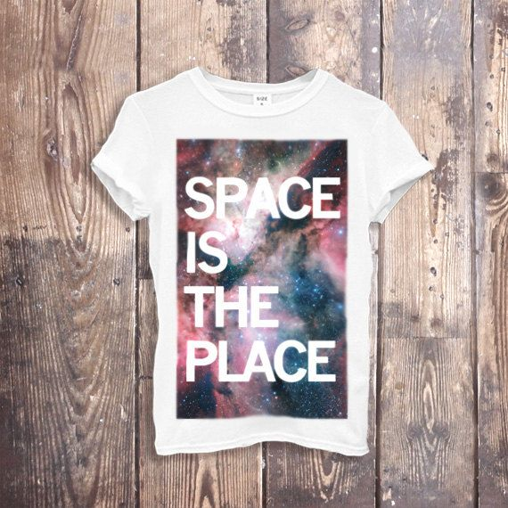 Galaxy Print T Shirt Top Hipster Fashion Top T by CorvinusTextiles, $28.00