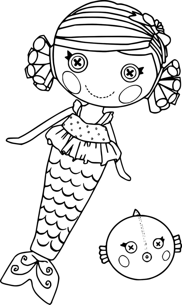 lalaloopsy mermaid doll coloring page