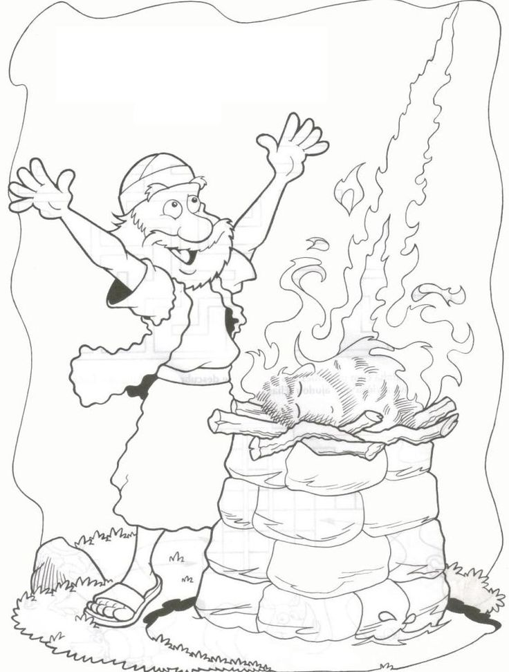 elijah coloring pages - Elijah Bible Story Coloring Pages
