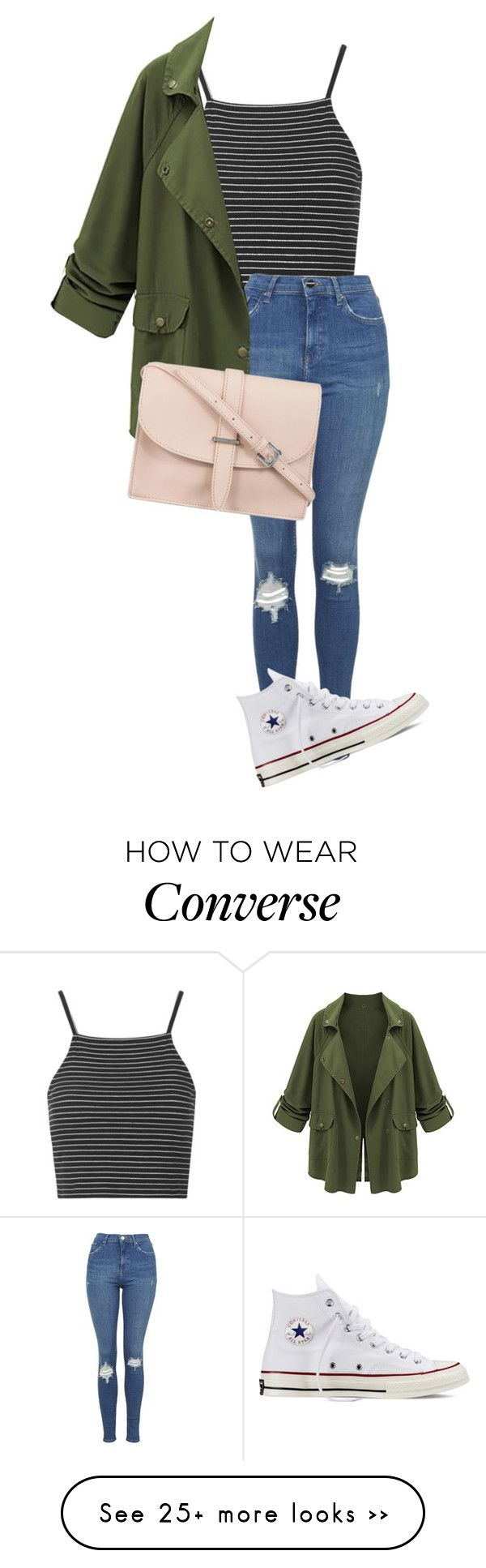 """""""Sin título #166"""" by steff25 on Polyvore featuring Topshop, Converse and M.N.G"""