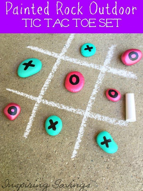 Make this DIY Tic Tac Toe Game for outdoor fun this summer! It is perfect for birthday parties or an activity to do with your kids. Get the kids involved.