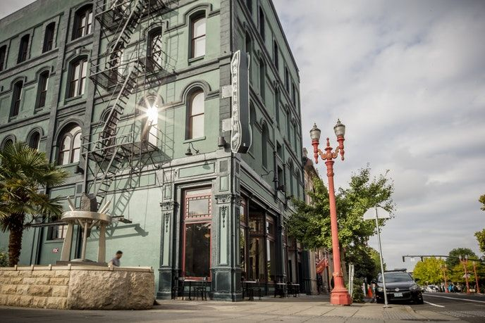 Make the Society Hotel in Portland your base: It's located downtown in a building dating to the 19th century. The hotel is a social hub with a rooftop deck and hostel accommodations, but you'll want to book one of the contemporary-feeling private rooms. From $169