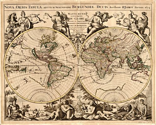 35 best antique world maps images on pinterest antique maps old 1694 earth antique world map print gumiabroncs Gallery