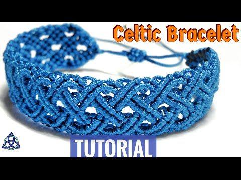 Macrame Celtic 'Blue Sea' Bracelet Tutorial | Friendship Bracelet DIY – Macrame