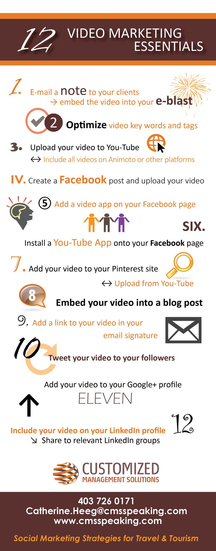 #VideoMarketing tips for #travelprofessionals.